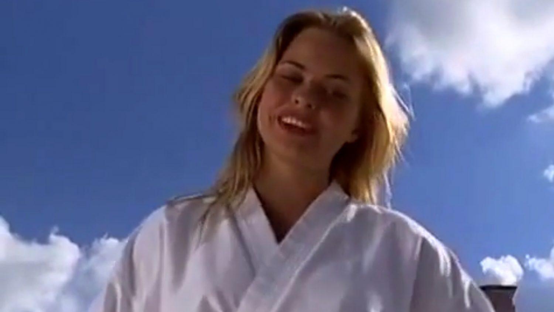 Skilled girl martial arts